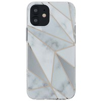 KASEAULT   Hard TPU  Electroplated Purity White Marble Design Case for iPhone 12 / 12 Pro