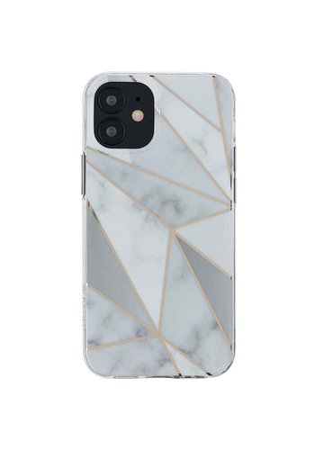 KASEAULT | Hard TPU  Electroplated Purity White Marble Design Case for iPhone 12 / 12 Pro
