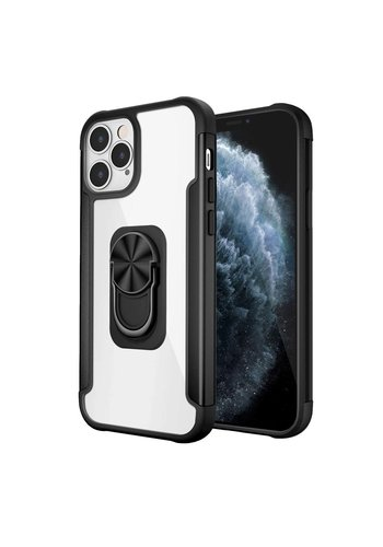 Alloy Frost Bumper Case with MagRing Stand for iPhone 12 Pro Max