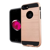 PC TPU Metallic Brushed Design Case for iPhone SE / 8 / 7