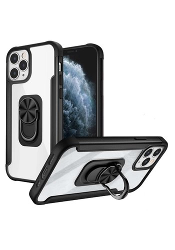Alloy Frost Bumper Case with MagRing Stand for iPhone 11