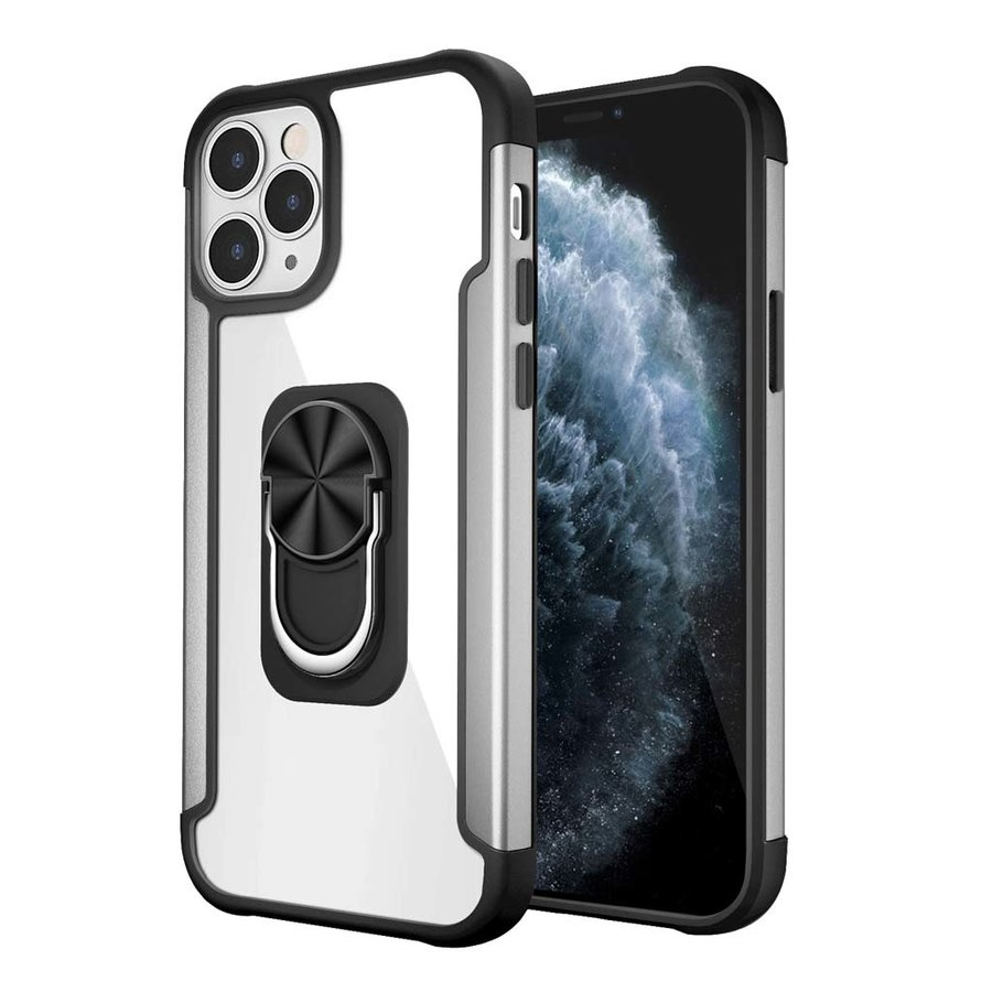 Alloy Frost Bumper Case with MagRing Stand for iPhone 12 / 12 Pro