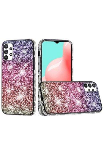 Decorative All Around Diamond  Glitter Case for Galaxy A32 5G