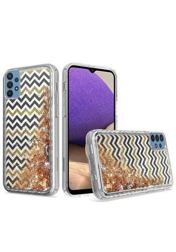 KASEAULT | Liquid Quicksand Glitter ZigZag Design Case for Galaxy A32 5G
