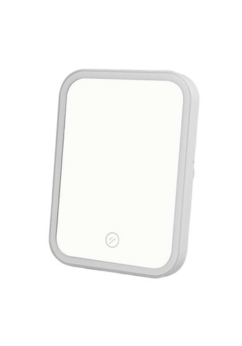 Portable Square LED Mirror with Rechargeable Battery