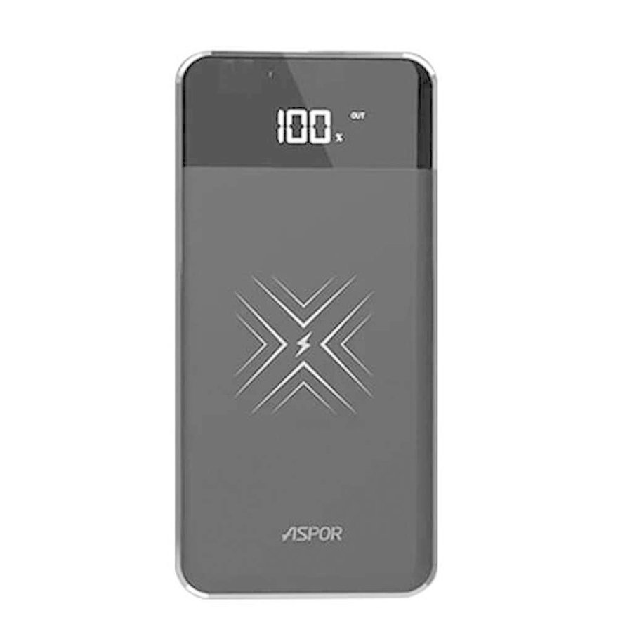 ASPOR | 10,000 mAh Wireless Charging Power Bank with USB and USB-C Ports (A361-PD)