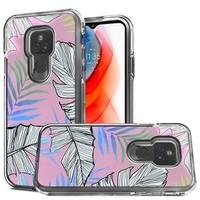 TPU Gel Electroplated Leaf Design Case for Motorola Moto G Play (2021)