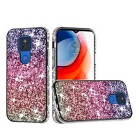 Decorative All Around Diamond  Glitter Case for Motorola Moto G Play (2021)