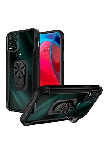 Alloy Frost Bumper Case with MagRing Stand for Motorola Moto G Stylus (2021) 5G*