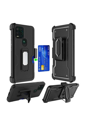 Armor CARD Holster Clip Case with Magnetic Kickstand for Motorola Moto G Stylus (2021) 5G*