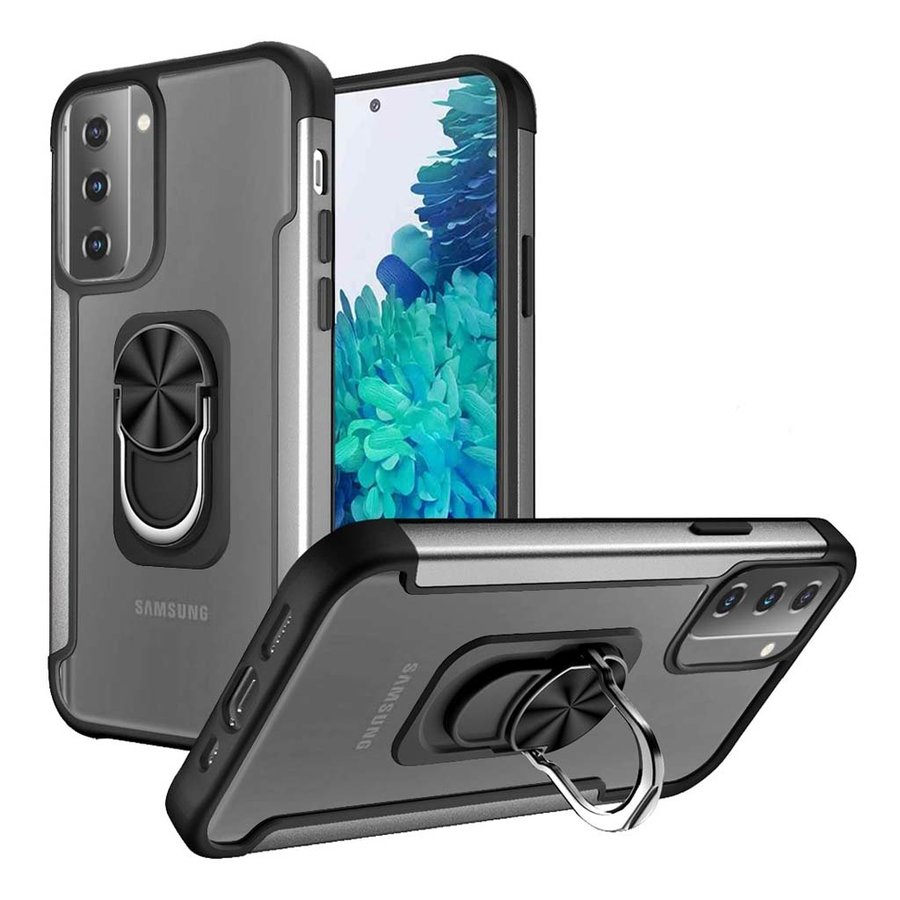 Alloy Frost Bumper Case with MagRing Stand for Galaxy S21 Ultra