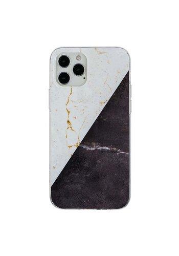 KASEAULT | Hard TPU  Electroplated Vintage Marble Design Case for iPhone 11