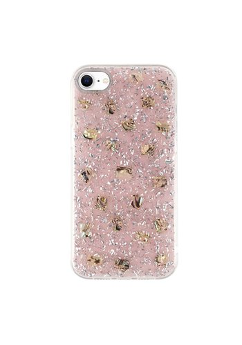 KASEAULT | Shell Epoxy Flake Glitter Design Case for iPhone SE (2020) / 8 / 7