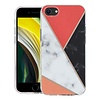 KASEAULT | Hard TPU  Electroplated Power Marble Design Case for iPhone SE (2020) / 8 / 7