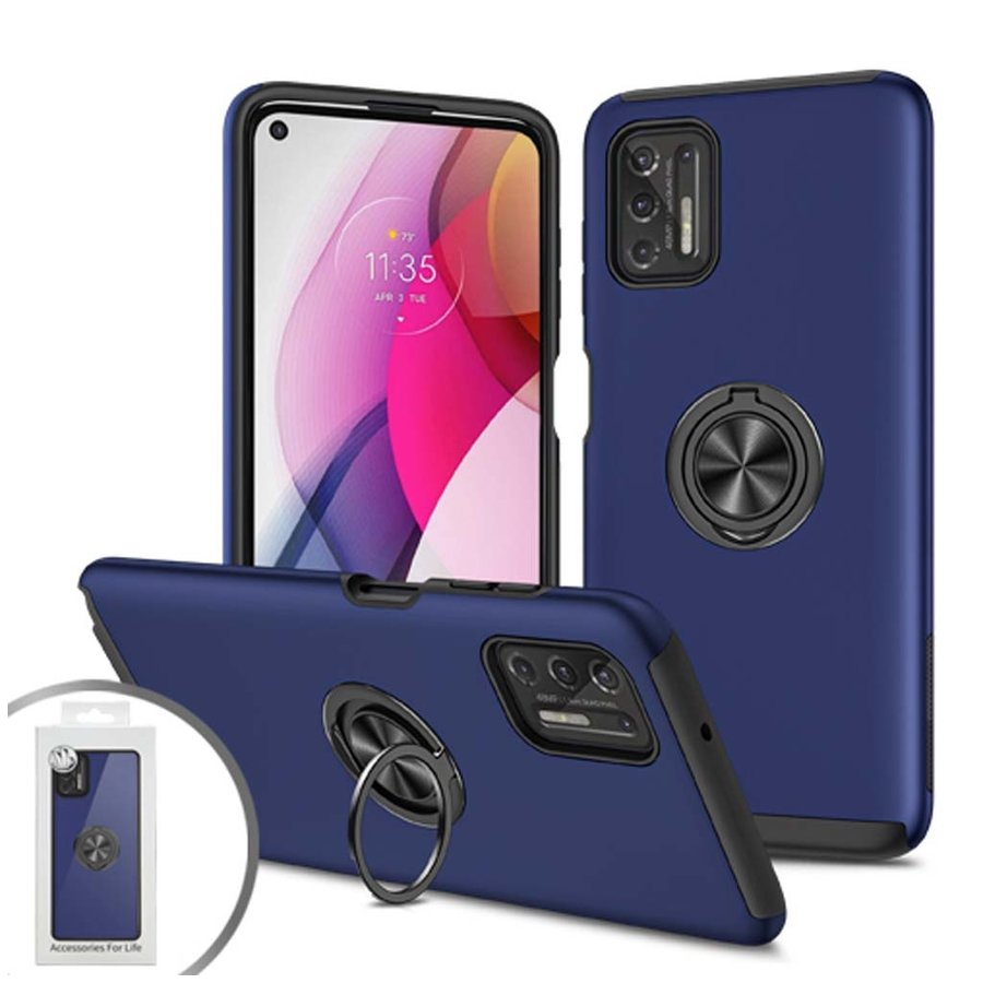 Slim Painted Cases with MagRing Stand for Motorola Moto G Play (2021)