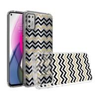 KASEAULT   Transparent ShockProof ZigZag Design Case for Motorola Moto G Stylus (2021)