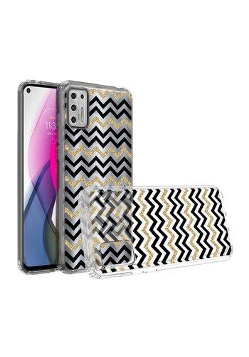 KASEAULT | Transparent ShockProof ZigZag Design Case for Motorola Moto G Stylus (2021)
