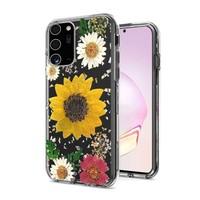 Transparent Sun Flower Print Design Case for Galaxy Note 20 Ultra