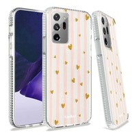 KASEAULT   Transparent ShockProof Hearts and Stripes Design Case for Galaxy Note 20 Ultra