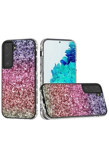 Decorative All Around Diamond  Glitter Case for Galaxy S21