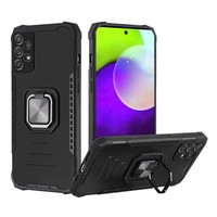Rugged Alloy Bumper Case with MagRing Stand for Galaxy A52 5G