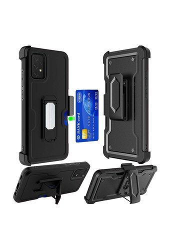 Armor CARD Holster Clip Case with Magnetic Kickstand for Galaxy A32 5G