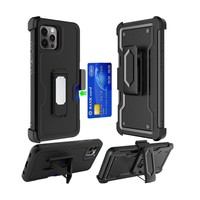 Armor CARD Holster Clip Case with Magnetic Kickstand for iPhone 11