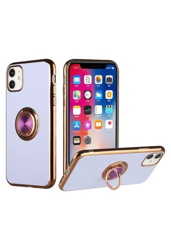 Metallic Electroplated TPU Case with MagRing Stand for iPhone 12 Pro Max