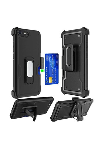 Armor CARD Holster Clip Case with Magnetic Kickstand for iPhone SE (2020) / 8 / 7