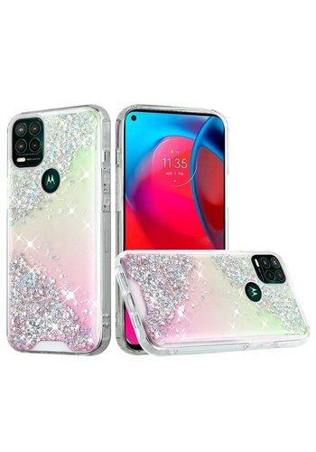 Vogue Epoxy Glitter Pink Shimmer Design Case for Motorola Moto G Stylus (2021) 5G*