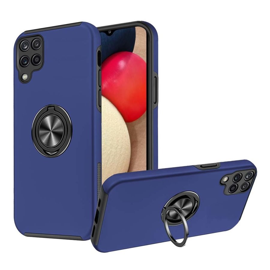 Slim Painted Cases with MagRing Stand for Galaxy A12