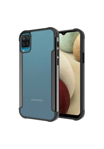 Slick Transparent Alloy Case for Galaxy A12