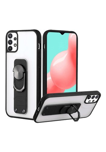 Transparent Frost Case with MagRing Lever Stand for Galaxy A32 5G