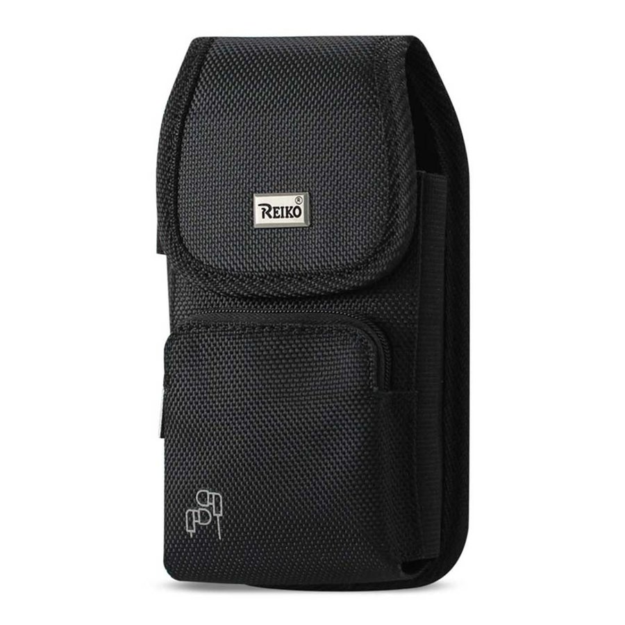 Reiko (inside: 6.44 x 3.49 x 0.31 in) Vertical Rugged Pouch Velcro Closure with Zipper Pocket For Universal Devices (PH15B-643507))