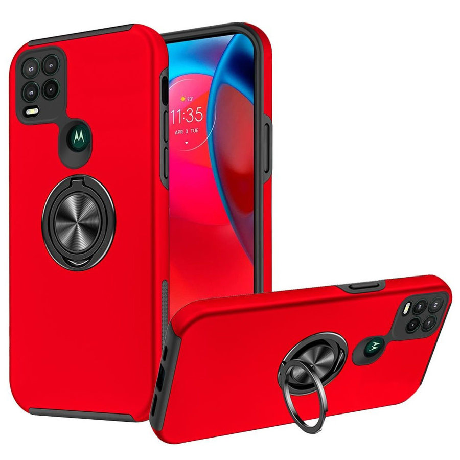 Slim Painted Cases with MagRing Stand for Moto G Stylus 5G
