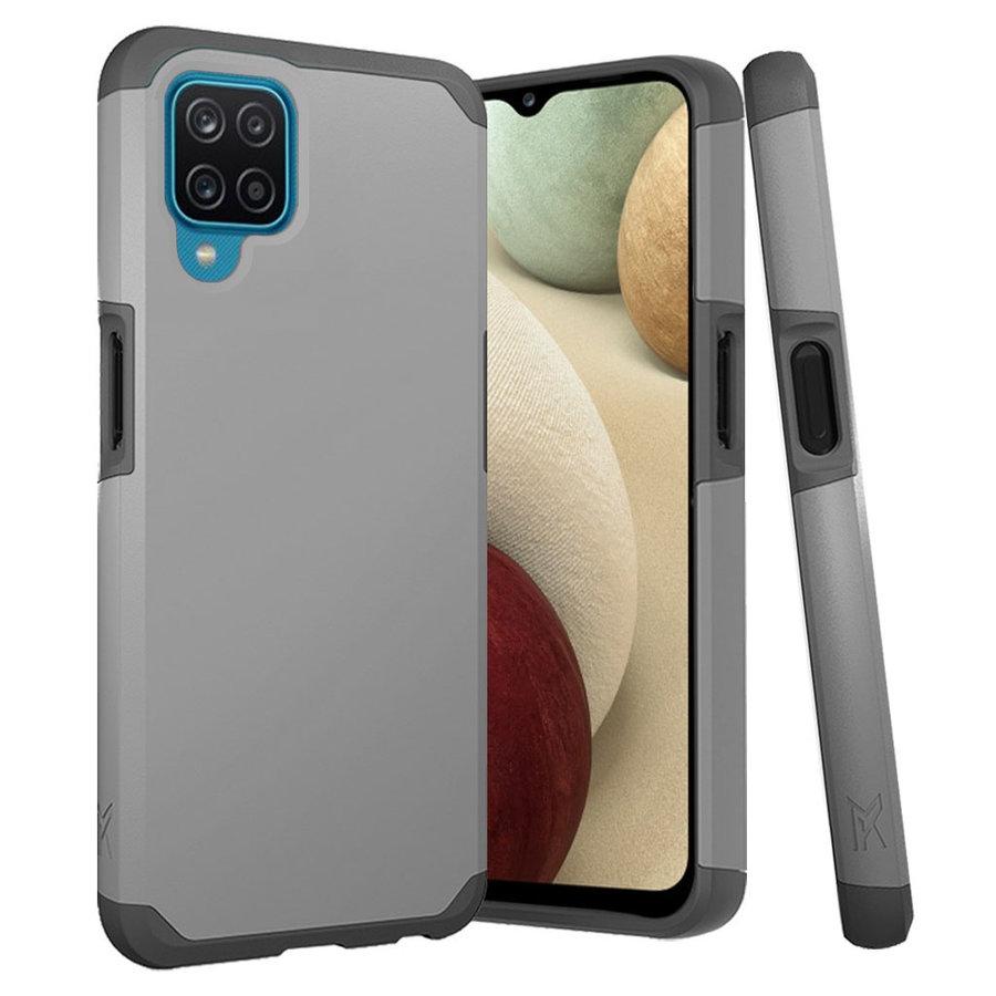 METKASE | Premium Minimalistic Air-Cushion Slim Tough ShockProof Dual Layer Hybrid Case Cover for Samsung A12