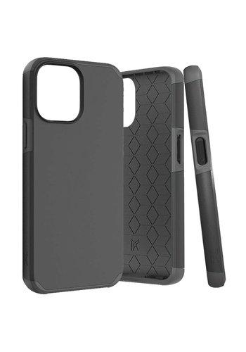 METKASE   Premium Minimalistic Air-Cushion Slim Tough ShockProof Dual Layer Hybrid Case Cover for iPhone 13 Pro Max