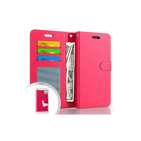 Hybrid PU Leather Flip Cover Case Wallet with Credit Card Slots for iPhone 13