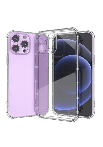 Transparent Cross Stripes Design Thick TPU Case for iPhone  XR