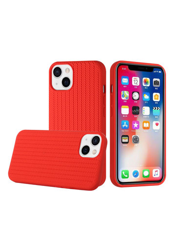 Novelty Silicone Thick Woven Design Case Cover for iPhone 13 Pro Max