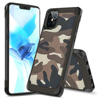 PC TPU Hard Bumper Case with Camouflage Design for iPhone 13 Pro