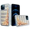 KASEAULT | Liquid Quicksand Glitter ZigZag Design Case for iPhone 13 Pro