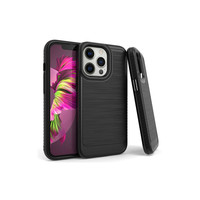 Metallic PC TPU Brushed Case Carbon Fiber Edge for iPhone 13 Pro