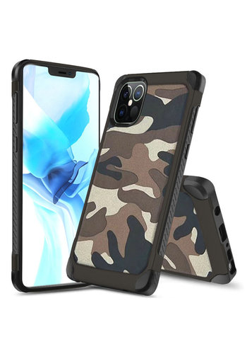 PC TPU Hard Bumper Case with Camouflage Design for iPhone 13 Pro Max