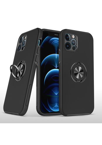Slim Painted Cases with MagRing Stand for iPhone 13 Pro Max
