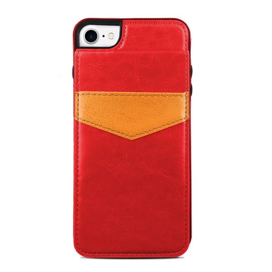 Protective Case Vertical Flip Wallet For iPhone SE (2020) / 8 / 7