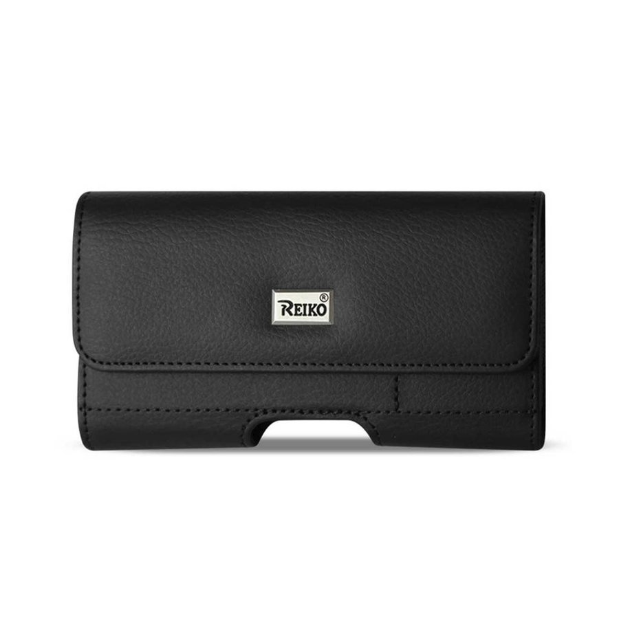 Reiko (inside: 6.62 x 3.46 x 0.68 in) Horizontal Leather Card Holder Pouch For Universal Devices (HP500B-663507)