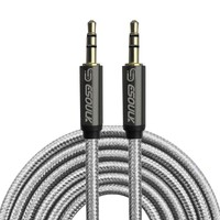 ESOULK | 3.5mm Gold Plated AUX Cable 10FT/3M Nylon Fabric (Non-Tangle) - EC31P