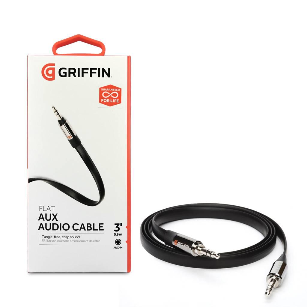 Griffin Flat Aux Audio Cable 3 Feet
