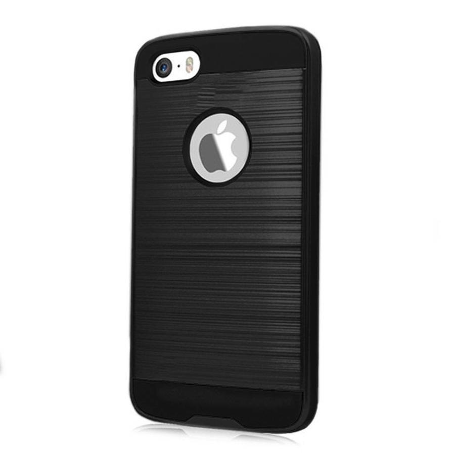 PC TPU Metallic Brushed Design Case for iPhone 5/5S/SE